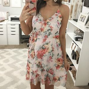 Abercrombie floral wrap dress with frill detail